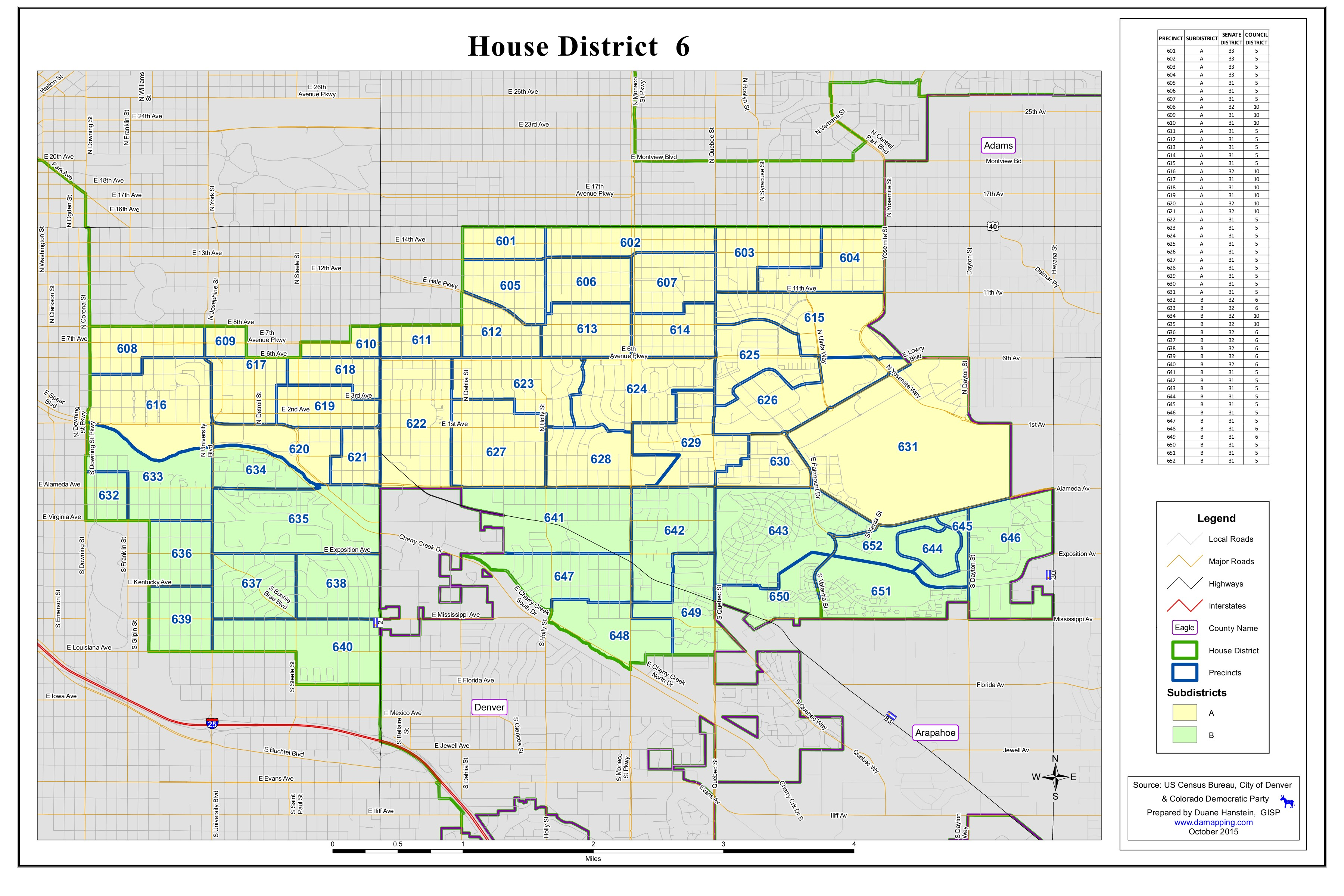 House District 6 Map   Democratic Party of Denver